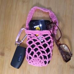 Wrist Pocket - Coral Pink