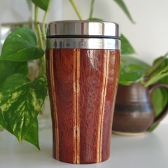 Wooden travel mug, Wooden coffee mug, Keep cup, Gift for him, Jarrah Wood