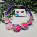 Confentti Clouds Gilltering - Button Fusion Necklace - Button Jewellery