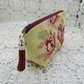 Girls/Women's small Wristlet/Cosmetic/Jewelery Pouch - Daffodil Yellow Floral
