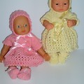 Dolls clothes an outfit for small dolls like 32cm Miniland and Mini Baby Born