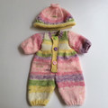 Knitted Jumpsuit and Matching Beanie with Doll