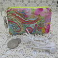 Coin Purse - Women's/Girls for Coins, Cards,Jewellery etc - Bright Swirl