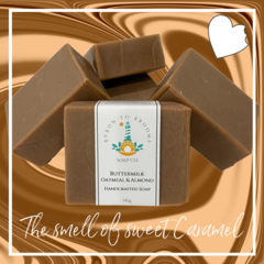 Buttermilk, Oatmeal & Almond Handcrafted Soap | 140g Bar - Palm Oil Free