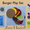 Felt Burger Play set Plus Personalised Bag