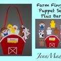Farm Finger Puppet set plus Personalised Bag