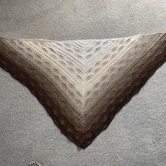 Ladies Hand crocheted Shawl/Wrap- Leaf pattern design