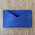 Cork Business Card Holder - Denim Blue