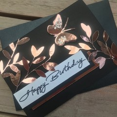 Birthday Metallic Butterfly