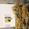 Fairy Wrens in the Canola Fields 3 Blank Greeting Cards