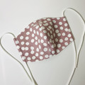 FABRIC FACE MASK washable reusable filter pocket - Dots print - multi layers