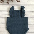 Crochet Berry Romper, Baby Girls Playsuit, Size 0000 000