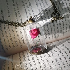 Enchanted Rose inspired Necklace Valentines day or birthday gift