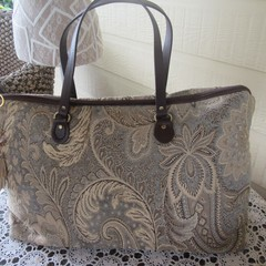 Women's Carry on Luggage/Overnight Bag/Weekender - Chenille Tapestry Design