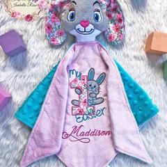 My 1st Easter Bunny 'Ruggybud' - personalised, comforter, keepsake, lovey.