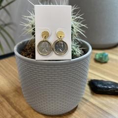 Australian Threepence Stud Earrings (V2)