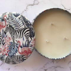 Safari Triple Wick Soy Candle - 31 choices of fragrance