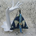 Women's Pyramid Wristlet - Evening, Day, Wedding,  Party - Boho Navy