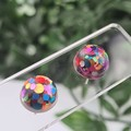 Rainbow Pop - Bubble Button - Stud Earrings