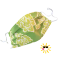 REVERSIBLE Face Mask - 100% cotton - ROSES ARE GREEN by Sunshine Face Masks