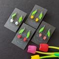 Tulip Dangle Earrings - cute flower jewellery