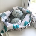 Knitting Project Bag in Retro Print Fabric