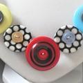 Multi colour  button necklace   - Colour Spot