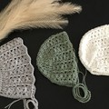 Crochet Vintage Bonnet. 100% cotton, Baby girl, baby shower