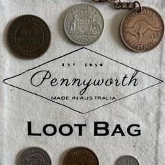 Australian Pre Decimal Coin Loot Bag