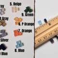 Tiny minimal square Acrylic stud earrings , Gray Blue Brown Orange Green