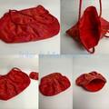 Red Fabric Handbag with purse