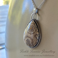 OOAK  - Ocean Jasper and Sterling Silver Pendant