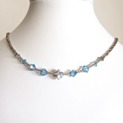 Swarovski Crystal Necklace: L'Argent