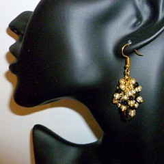 Hematite drop and cluster earrings. FREE SHIPPING