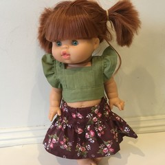 Miniland  and Minikane Dolls Skirt and Top to fit 38cm Dolls