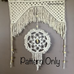 DIY craft project (pattern only) Beautiful Rustic  Macrame Dream Catcher