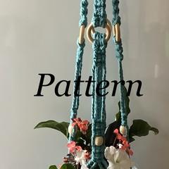 DIY craft project Beautiful Macrame Glass Pot Plant Hanger(pattern only)