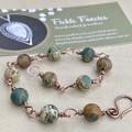 Gemstone Beaded Bracelet - Aqua Terra Jasper