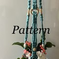DIY craft project Beautiful Macrame Glass Pot Plant Hanger(pattern only)