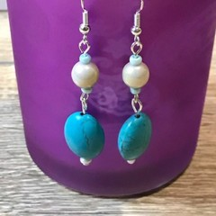 Turquoise elegance beaded earrings