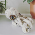 Porcelain octopus with realistic eyes
