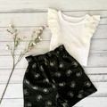 Paperbag Waist Shorts  | CATS | Sizes 2, 4