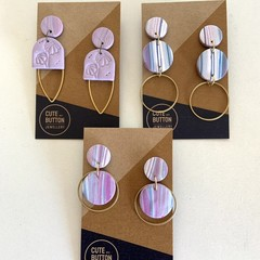 Purple Earring Collection
