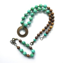 Set - Agate statement Necklace + bracelet