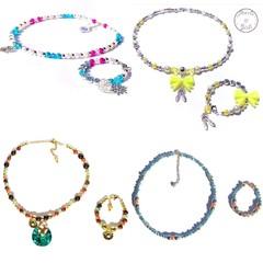Disney themed matching necklace & bracelet FROZEN / JASMINE / BALLERINA / MOANNA