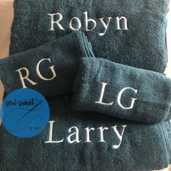 Couples personalised towels