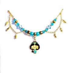 Princess Jasmine OR frozen Enamel Necklace