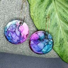 Rainbow Resin Cloud Earrings