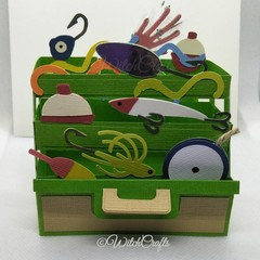 Tackle box card birthday, fathers day, cards for men