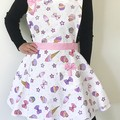 Pink Bow Ice Cream Retro Apron FREE Tracked POST!